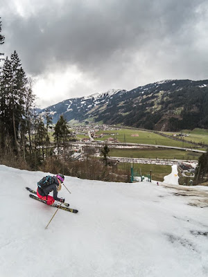 Skiabfahrt Zell am Ziller Tiefschnee