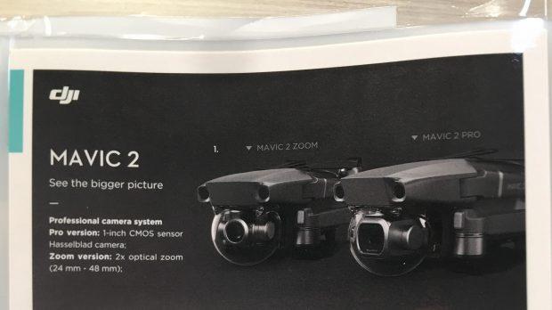 Изображение каталога с новыми дронами DJI Mavic 2