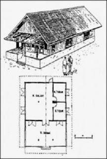 Desain Bentuk Rumah Adat Betawi Tipe Gudang dan Penjelasannya