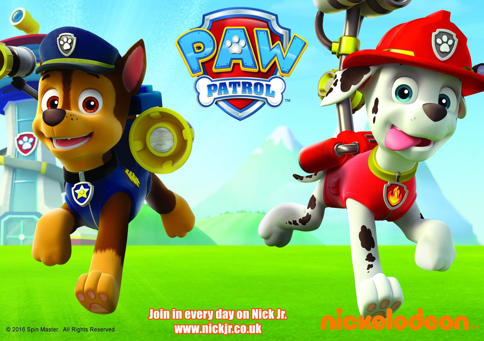 nickalive paw patrol stars chase and marshall to make their