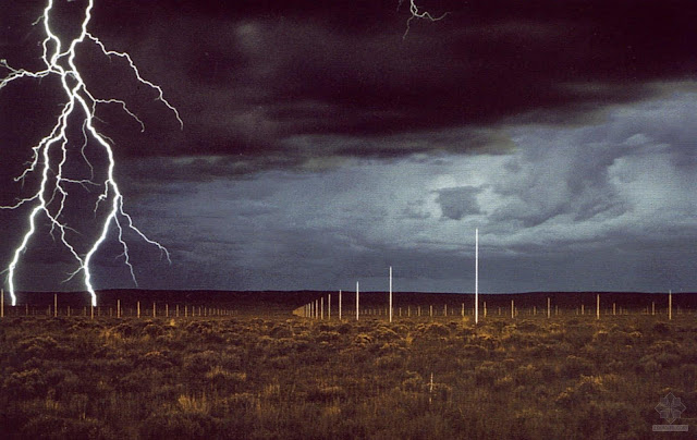 A Network Of Gleaming Lightning Rods In Remote Corner The High Desert Western New Mexico Is Deeply Moving Aesthetic Experience
