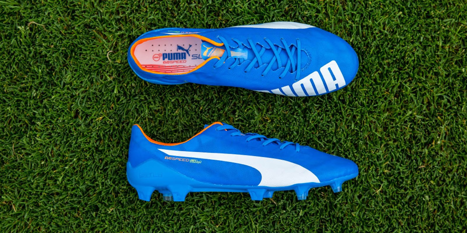 c420bca7e2b8 Puma evoSPEED SL Electric Blue   Lemonade   White   Orange Clown Fish