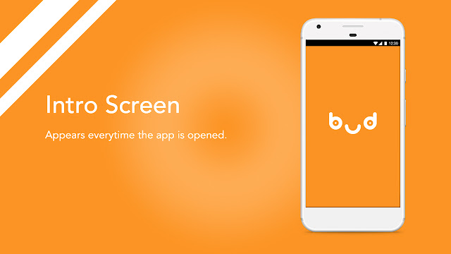 Android app UI and UX : bud intro