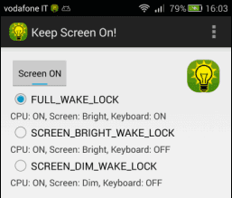 Keep Screen On! app Android