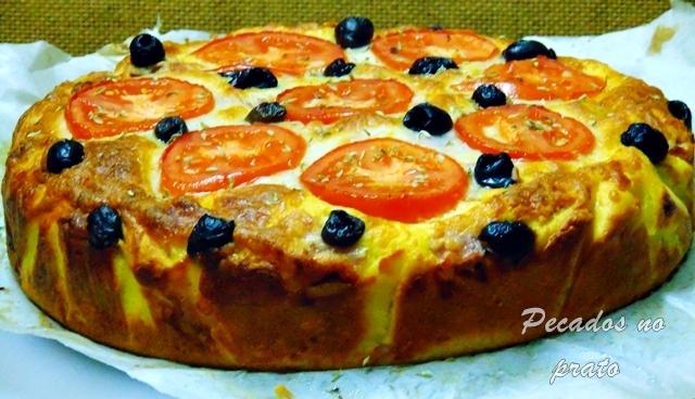Receita do bolo de piza