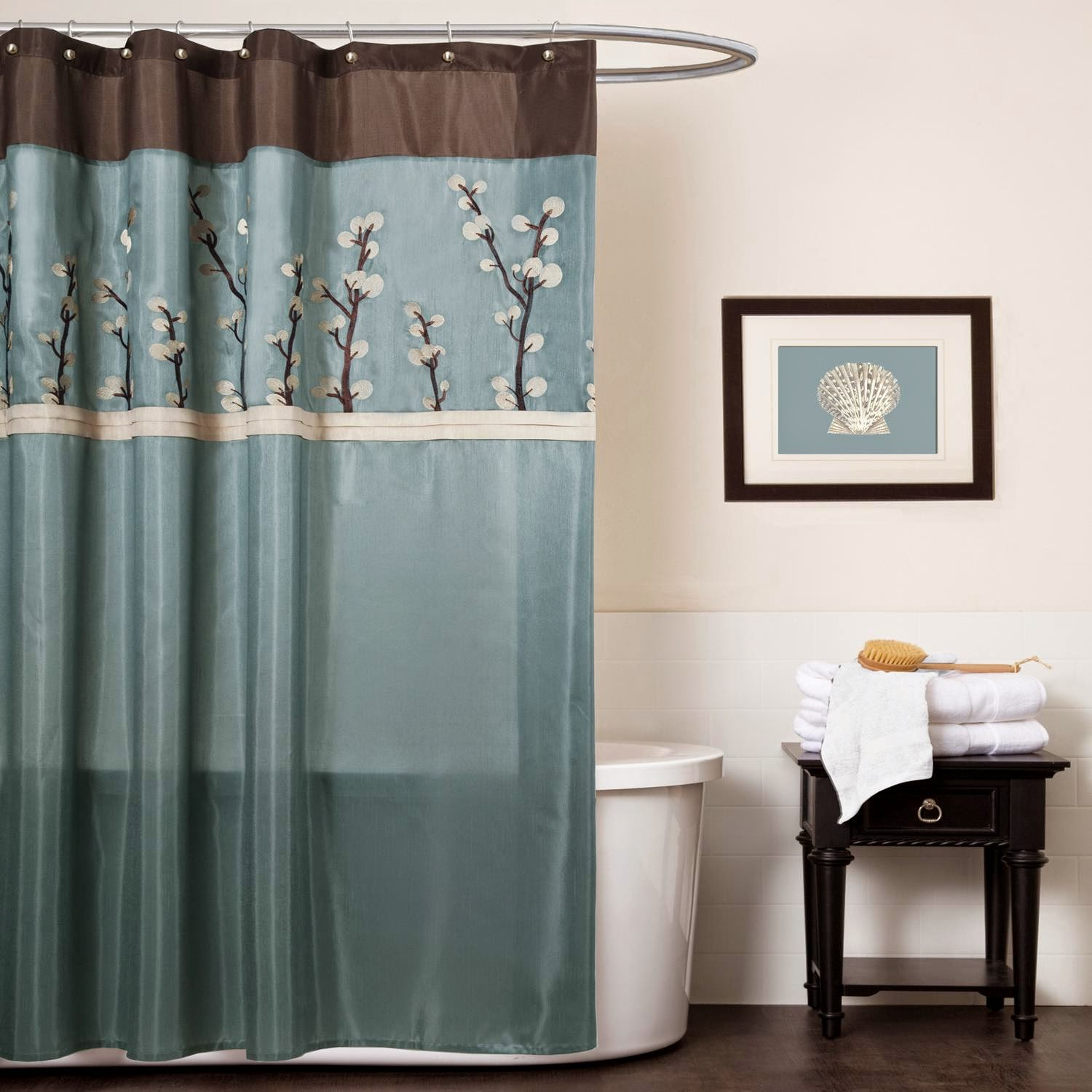 Blue Brown Bathroom Decor