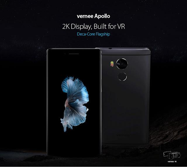 【新製品情報】2K液晶に4GB RAM、Helio X25デカコア搭載のVernee Apolloが登場。現在249ドルで販売中。