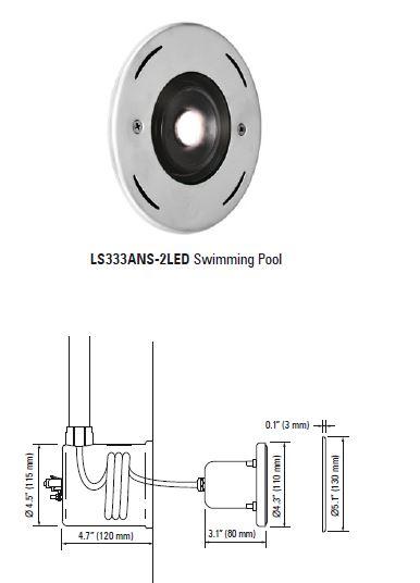 Lumascape Ls333ans 2led Swimming Pool Luminaire Lampu