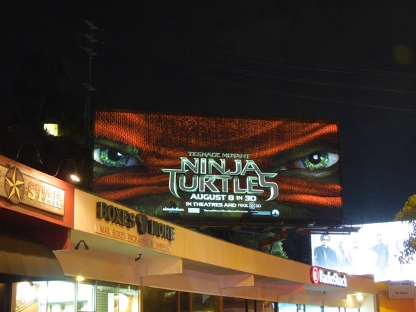 Ninja Turtles movie billboard night