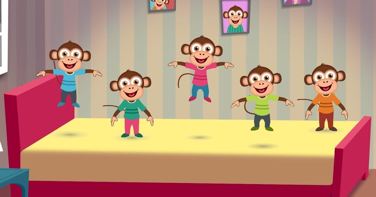 Cinque Scimmiette Saltavano Sul Letto.La Maestra Linda Cinque Scimmiette