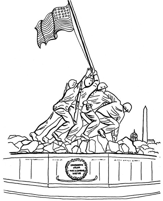 Veterans day coloring pages printable thank you sheets for Coloring pages veterans day