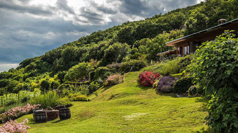 Garden and Chalet in the Summer Landscape HD
