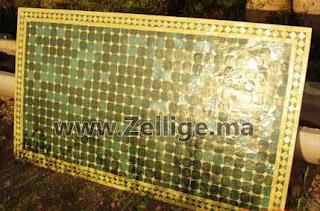 des tables mosaique en zellige marocain rectangulaire mosaique marocaine. Black Bedroom Furniture Sets. Home Design Ideas
