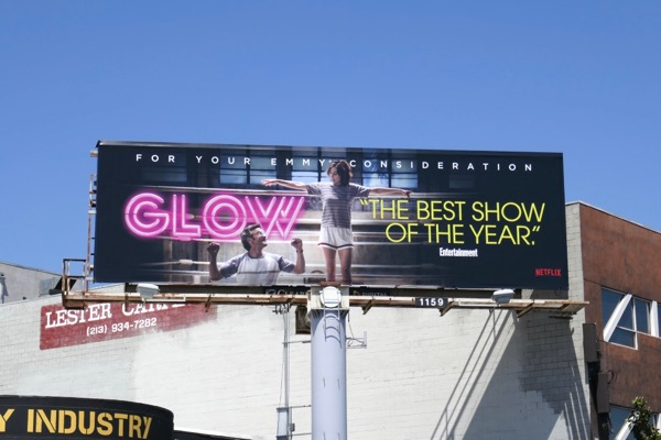 GLOW season 1 Emmy FYC billboard