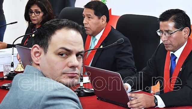 Sala Sahuanay anuló impedimento de salida del país para Mark Vito Villanela