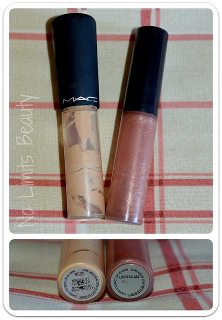 Back 2 Mac (reciclaje): Mineralize concealer en NC20 y LustreGlass en Beaux