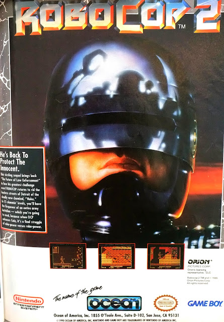 Robocop 2 for Game Boy advertisement