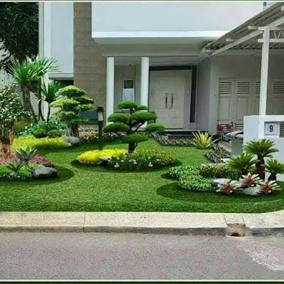 model taman depan rumah mewah