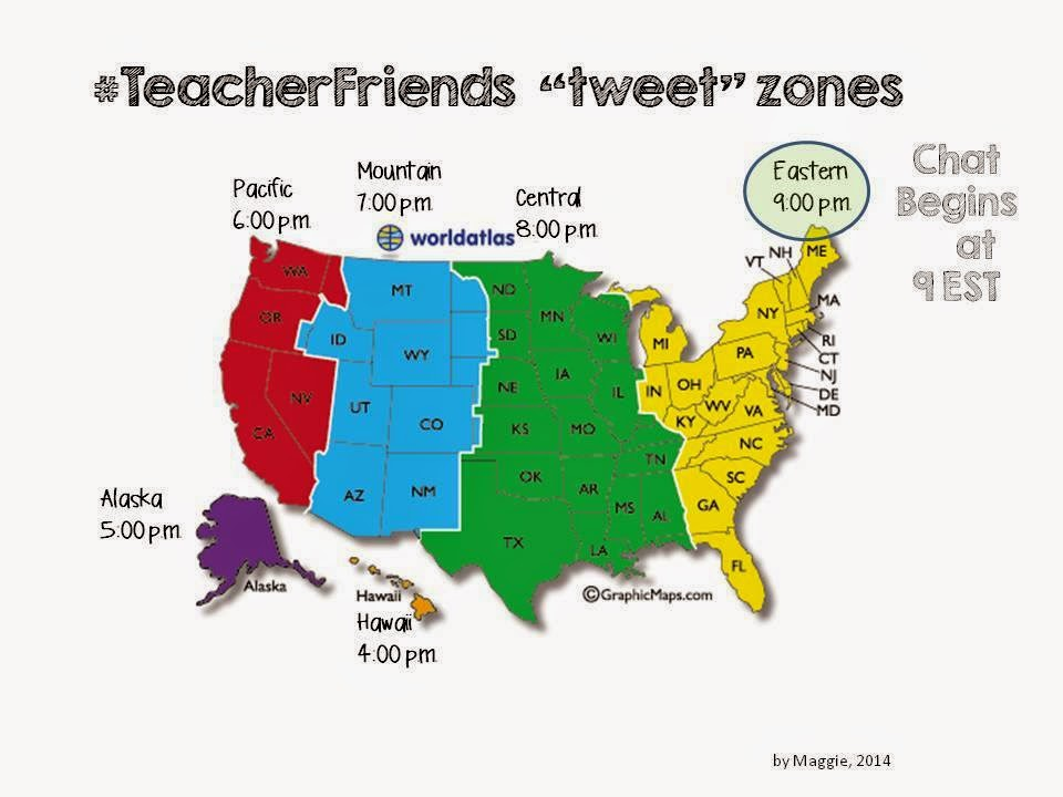 Time Zones for #TeacherFriends Chat