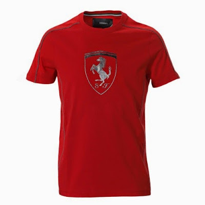 98bd9b6c566 Men s Ferrari Shield Silver T-Shirt