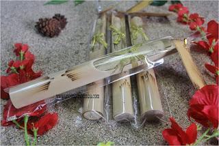 Undangan Bambu Separo Pita gold