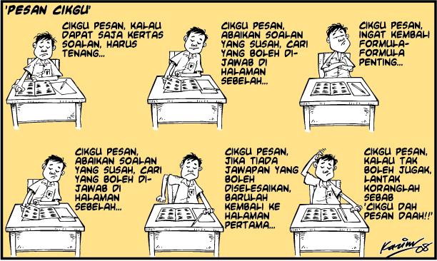 exam SPM, pesan cikgu, good luck
