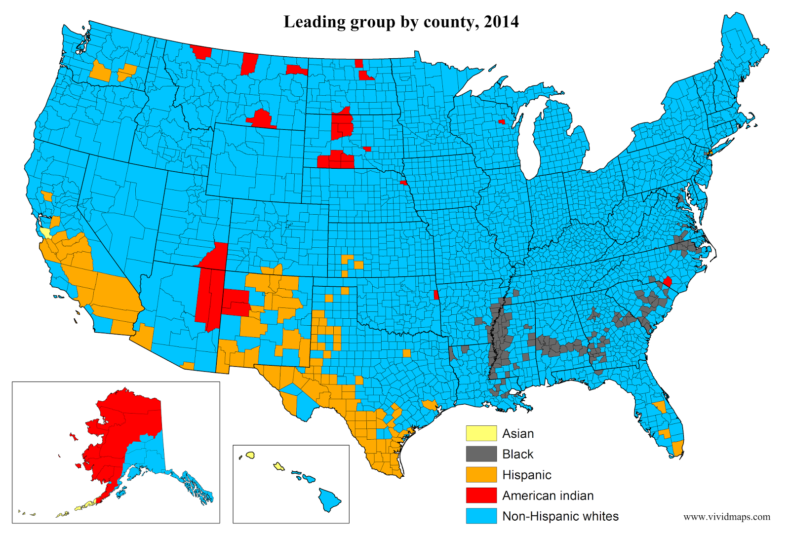 Leading group by county
