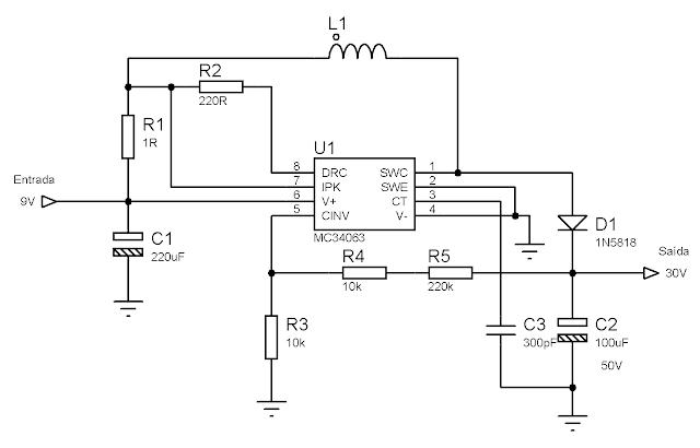 Esquema fonte 30V