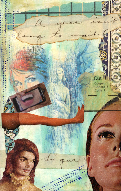 Collage made with damaged book cover