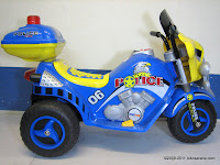 1 DoesToys DT9983 Police Battery Toy Motorcycle in Blue
