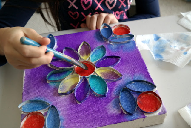 Painted Paper Roll Canvas Tutorial by Dana Tatar