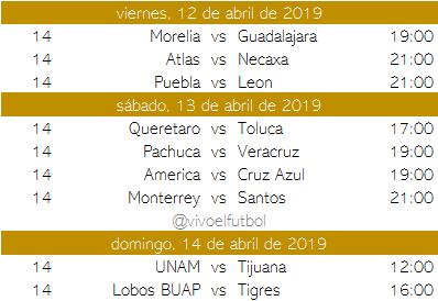 Calendario del clausura 2019 del futbol mexicano - Apuntes de Futbol ac9084647bd5a