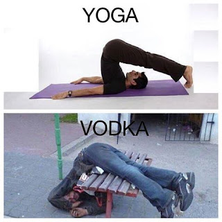Similarity between yoga and vodka