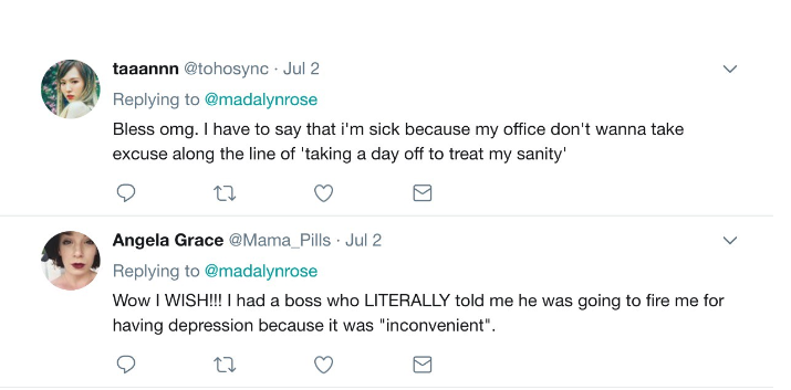 When This Woman Asked For A Mental Health Day, Her Boss' Response Went Viral