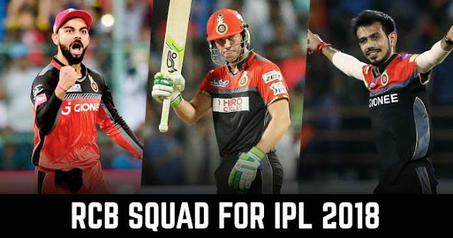 RCB Team Squad for IPL 2018: Royal Challengers Bangalore Players List for IPL 2018