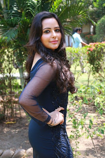 Actress Aanchal Stills in Blue Short Dress at Sei Movie Launch 0015.jpg