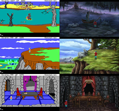 Comparación King's Quest II original vs Remake AGD Interactive