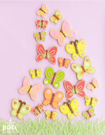 Kue kupu-kupu dalam berbagai varian