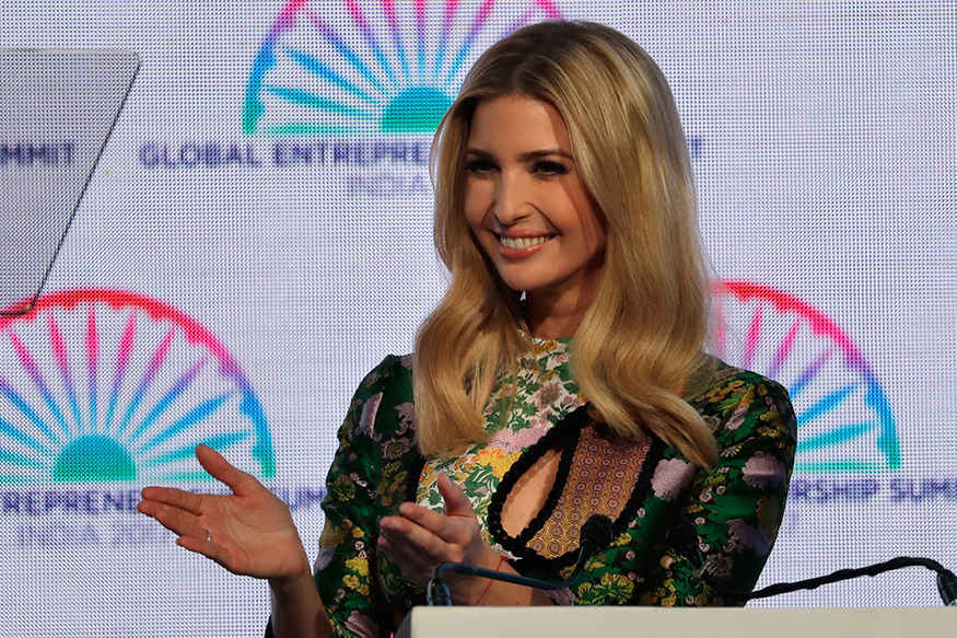Ivanka Trump Indian Trip Photos In Green Gown