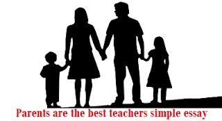 Parents are the best teachers simple essay