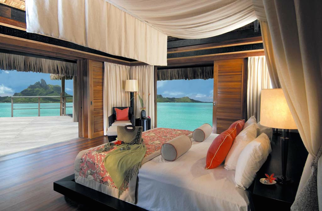 St. Regis Bora Bora Bedroom View