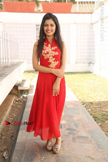 Telugu Actress Priyanka Jain Stills in Red Dress at Amazing Arts Production no 1 Movie Opening  0039.JPG