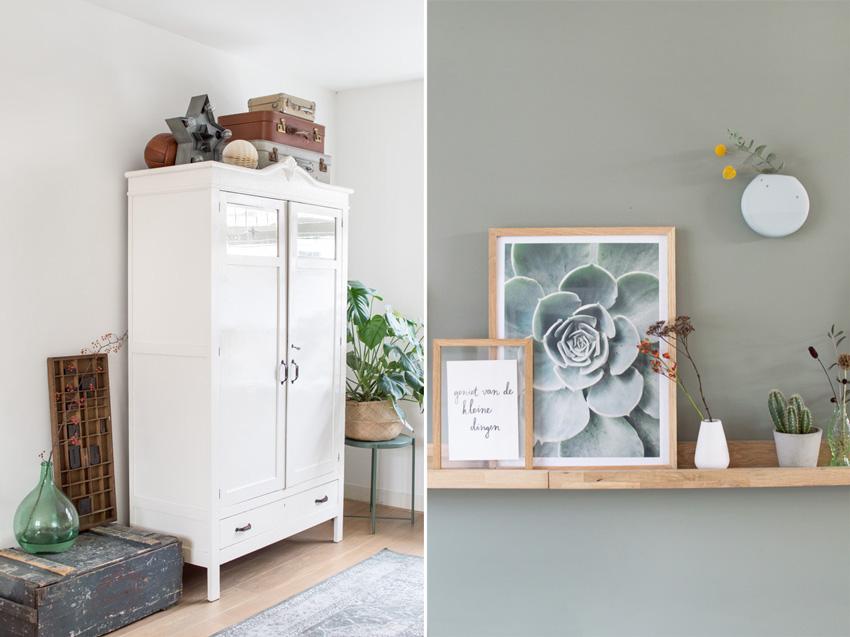 armario y detalles decoración nórdica