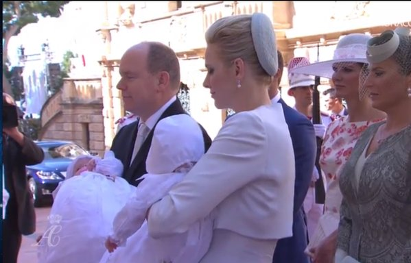 The baptism of the Princely Children of Prince Albert II and Princess Charlene, Hereditary Prince Jacques and Princess Gabriella,