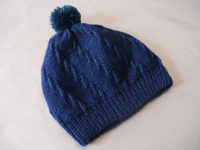bonnet bleu vert en tricot