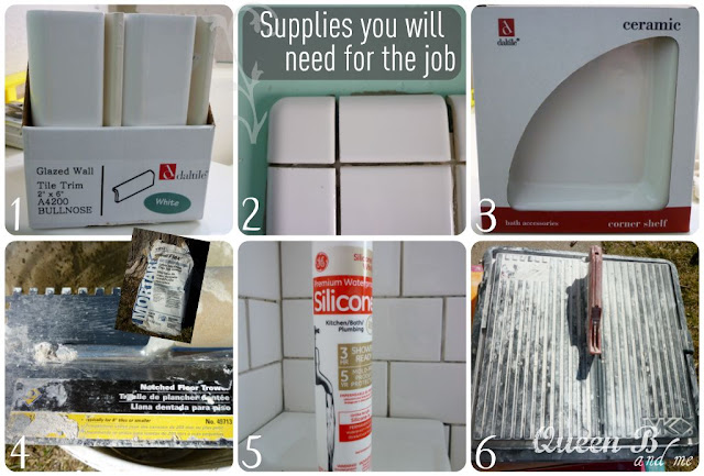 Subway Tile Tutorial from Queen B & Me on { lilluna.com }