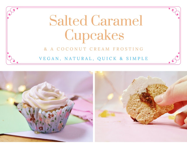 Salted Caramel Cupcakes (VG, Refined Sugar Free, Natural)