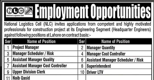 National Logistic Cell (NLC) Jobs 2020 Apply Now