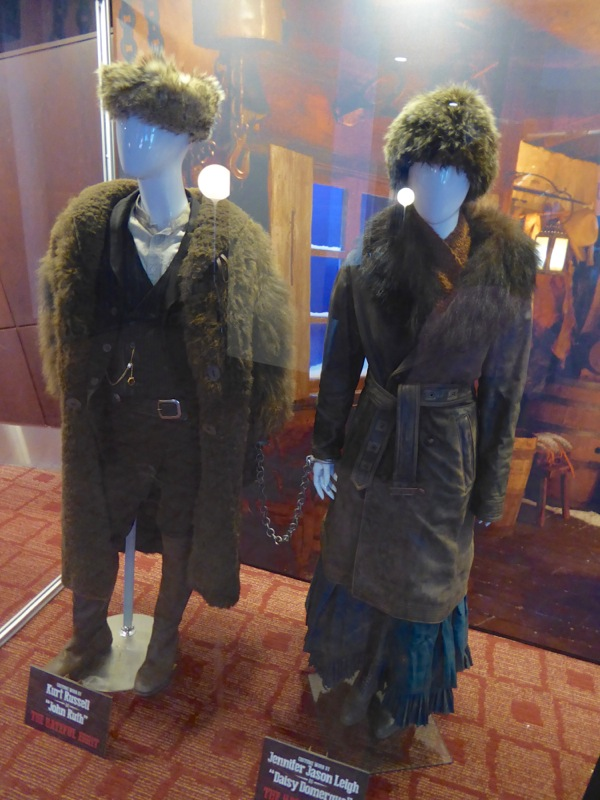 Kurt Russell and Jennifer Jason Leigh Hateful Eight movie costumes