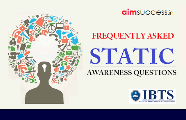 Static Awareness for IBPS PO/Clerk Main 2018: 23 October
